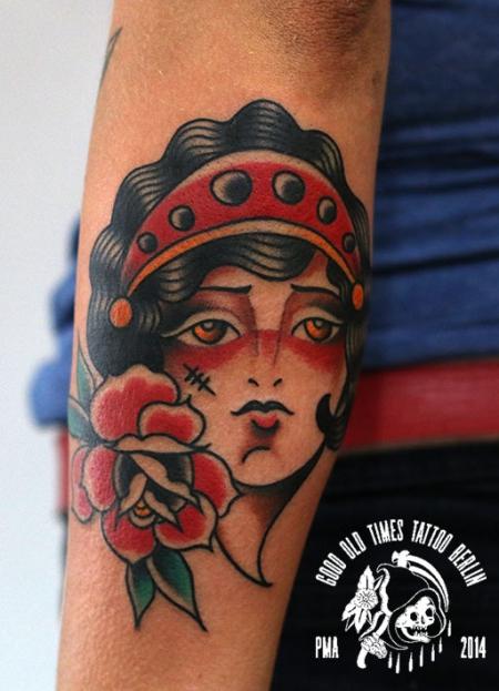 traditional girl tattoo
