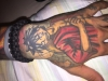 Monkey D Ruffy Luffy Kindheitsheld tattoo one piece