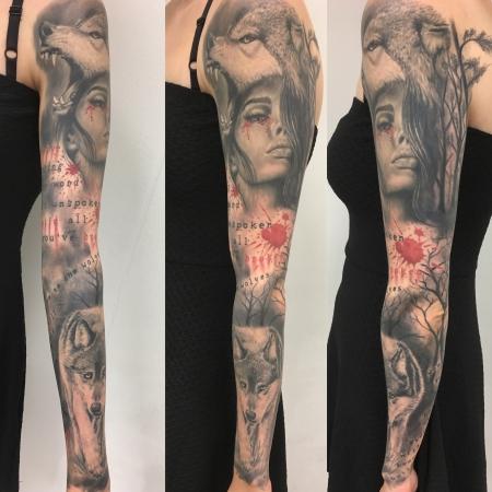 Cda Tattoo Wolf Frau Wald Text Tattoos Von Tattoo Bewertung De