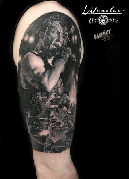 rammstein-Tattoo: Till Lindeman Rammstein