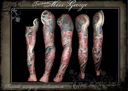 Samurai Drachen Full-sleeve by Miss George