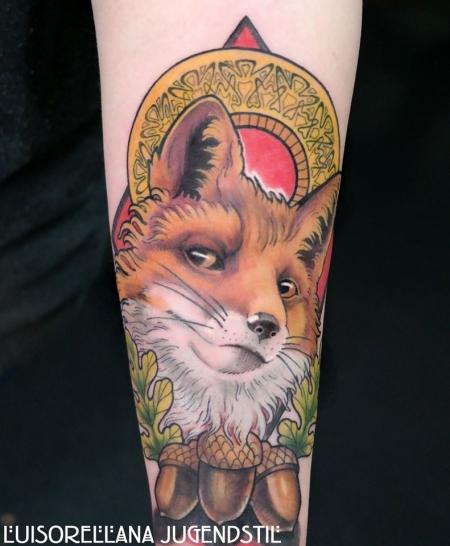 Luis orellana jugendstil tattoo