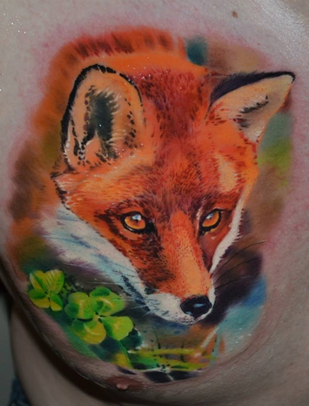 Little fox done in Linz, at the Human Canvas