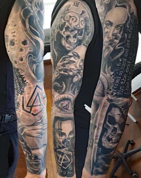 Tattoo Designer Skull Linkin Park Tattoos Von Tattoo