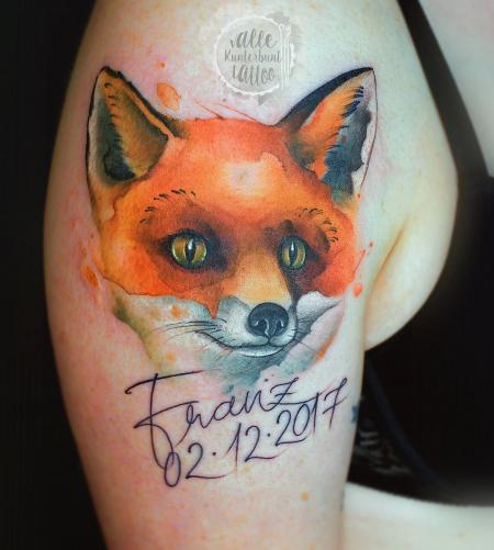schrift-Tattoo: Fuchs