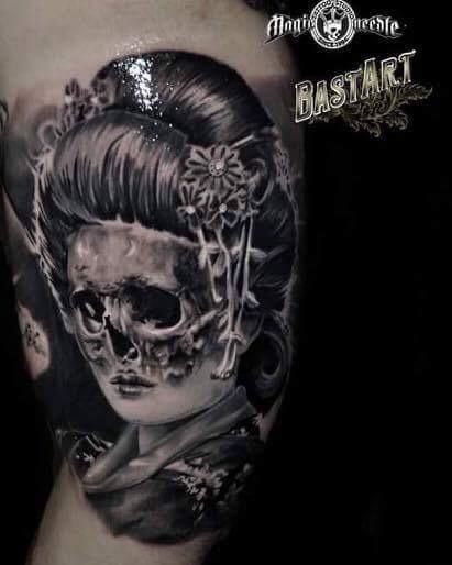 Geisha - Skull
