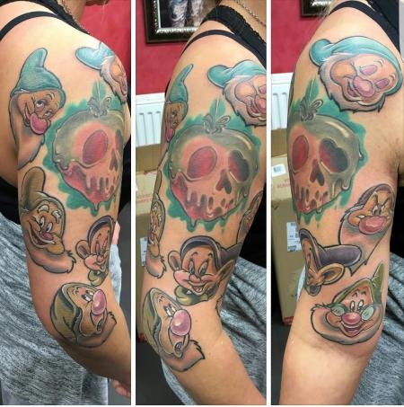 disney-Tattoo: Die 7 Zwerge Disney Sitzung Nr.2