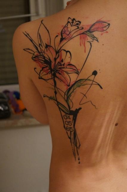 lilie-Tattoo: Lilie für Mutti