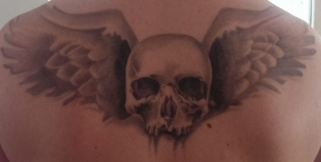 Skull mit Flügel