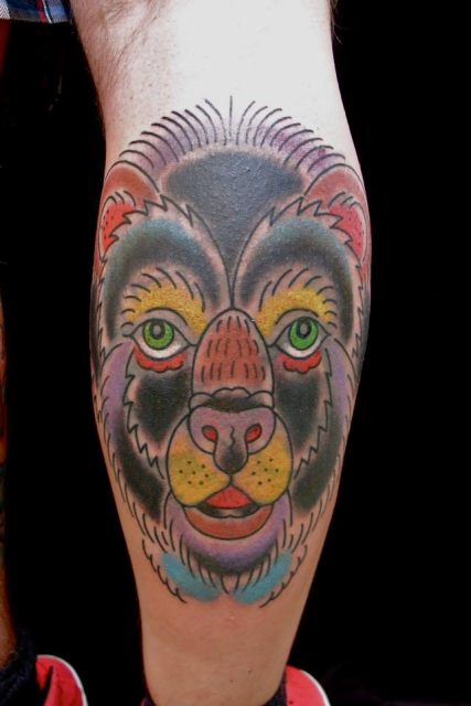 leopard-Tattoo: Bär - Cover up