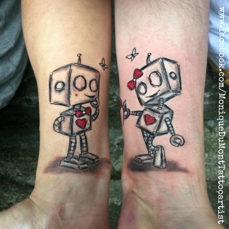 missteriousfrommars partnertattoo robot love scribble tattoos von tattoo. Black Bedroom Furniture Sets. Home Design Ideas