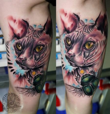 katze-Tattoo: Nackt Katze by Marco (Inkers-Paradise Tattoo)