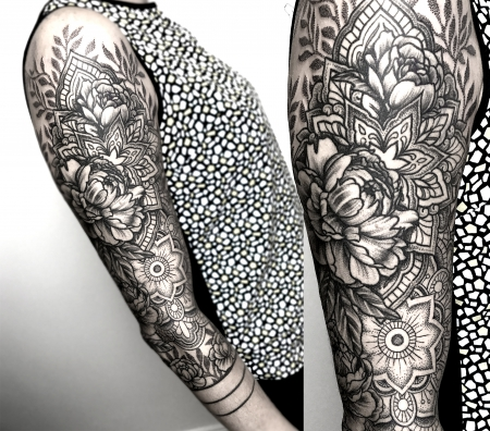 tattoos zum stichwort dotwork tattoo lass. Black Bedroom Furniture Sets. Home Design Ideas