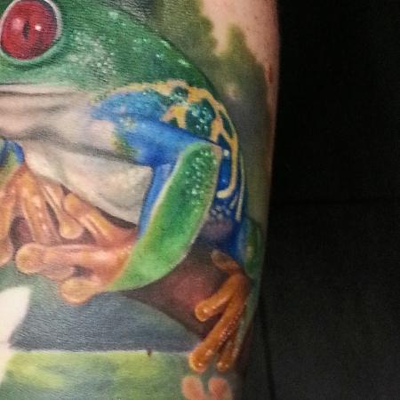 frosch-Tattoo: Frosch, Detailansicht