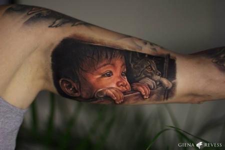 Kind mit Katze - Guest Artist Olga Sergeeva