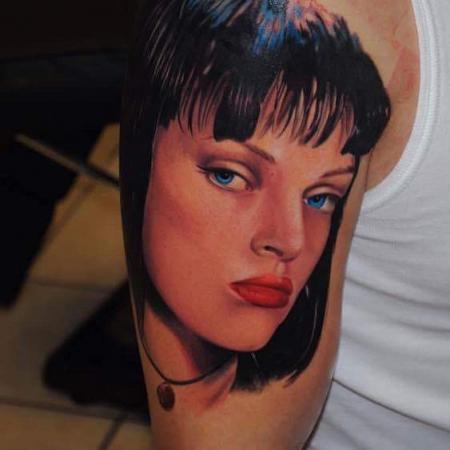 Pulp Fiction Mia Wallace Portrait