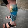 Realistic Delfin Tattoo