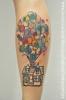 "disney tattoo ""up"" scribble & watercolor"