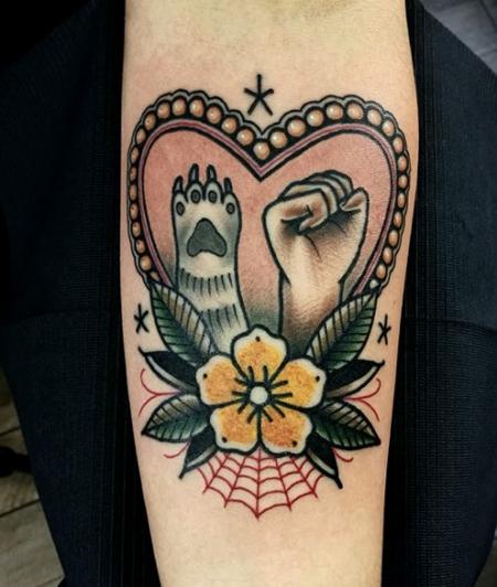 Dog&Cat love  - Godfather's Tattoo Nürnberg - By DOVAS