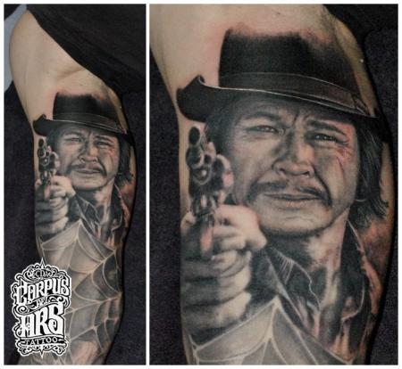 Charles Bronson Tattoo Portrait