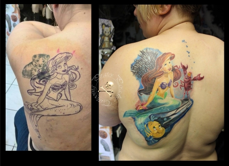disney-Tattoo: Coverup Arielle