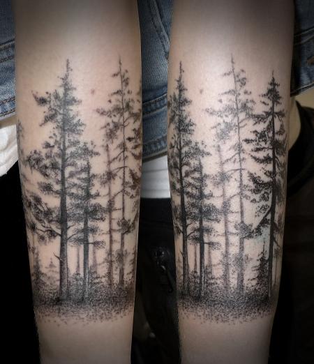 Tattoo Silhouette Wald