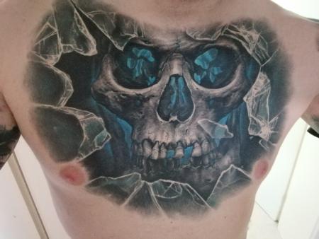 Skull, Glas Scherben