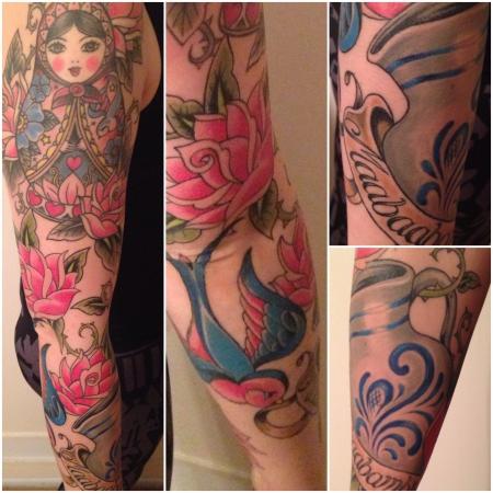 schwalbe-Tattoo: Der fertige Sleeve