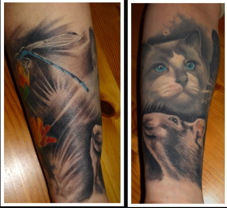 libelle-Tattoo: Sleeve still in Progress