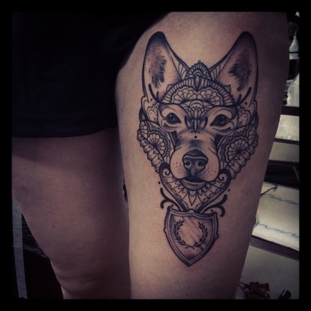 wolf-Tattoo: W OI FI