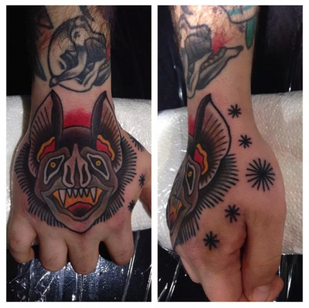 fledermaus-Tattoo: Fledermaus