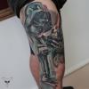Star Wars Bein Tattoo verheilt - 1,5 Jahre Teil1