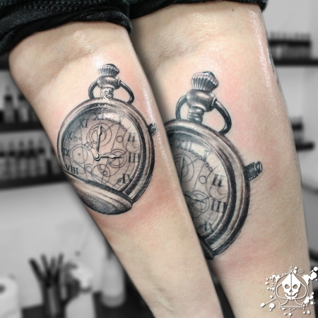 marco pikass taschenuhr uhr tattoos von tattoo. Black Bedroom Furniture Sets. Home Design Ideas