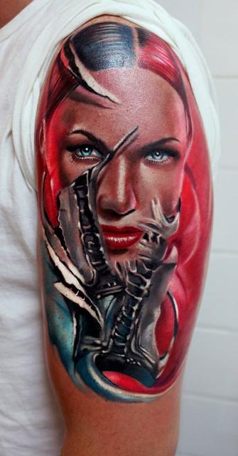 biene-Tattoo: ...