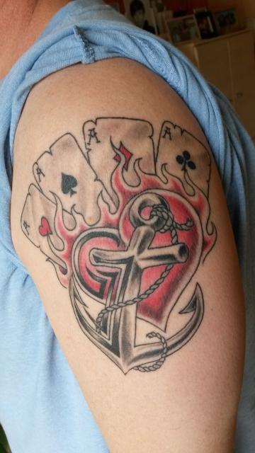 karten-Tattoo: Liebe, Halt & Zuversicht, Glück