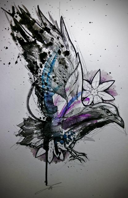 vogel-Tattoo: Kleinlaut