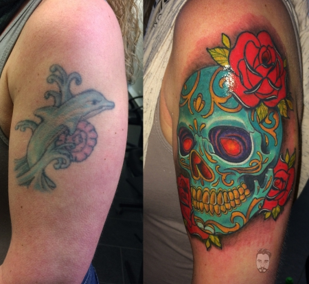 cover up mexican skull