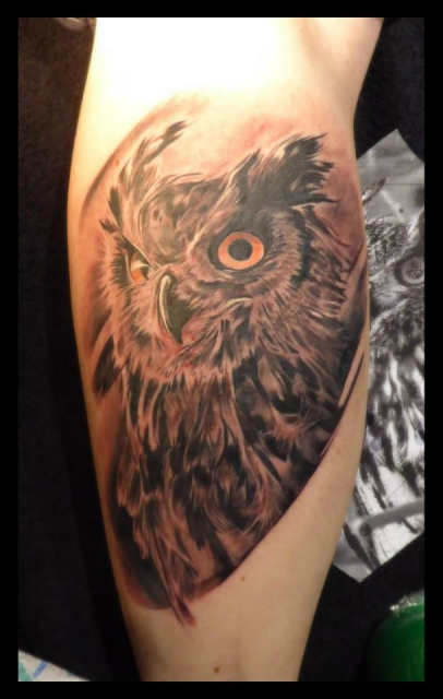 eule-Tattoo: Eule