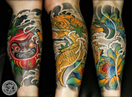lotus-Tattoo: DARUMA/KOI/LOTUS