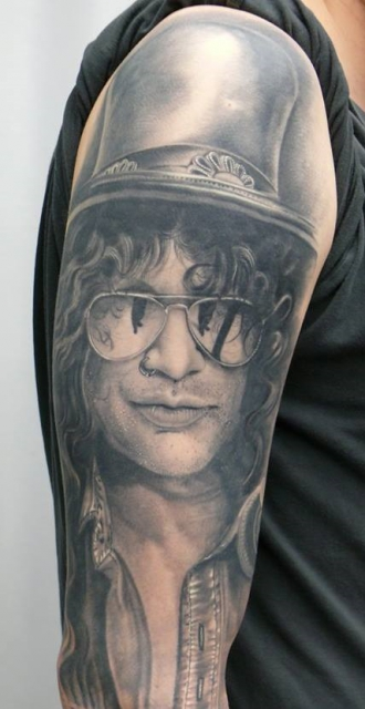 Slash, healed....