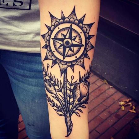 Kompass-Blume