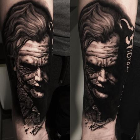 Joker , gestochen von Constantin Schuldt ( Heaven of Colours )
