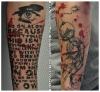Derek Hess Tattoo - Rage against Tattoo GRUNGE