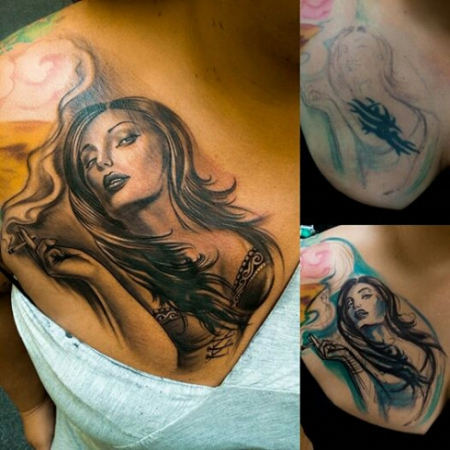 cover up done...tribal ade...