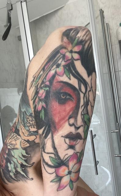Geisha Narben Cover up