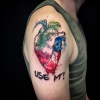 Watercolor Aquarell Herz Tattoo
