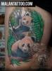 Pandas für immer - Bunt Tattoo