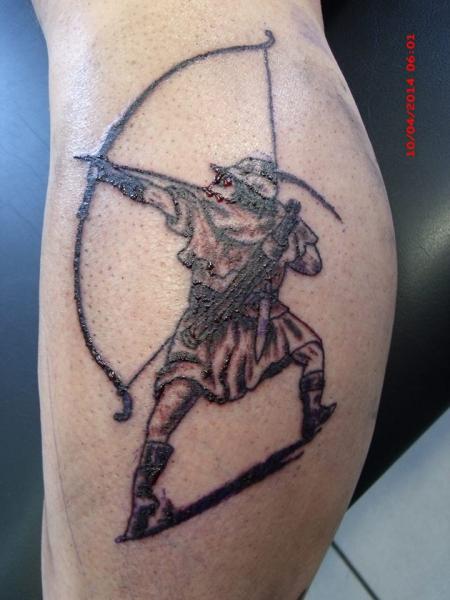 altenglischer Langbogenschütze