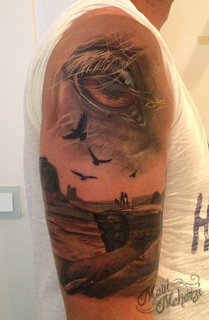 Horse Eye Monument Valley Tattoo