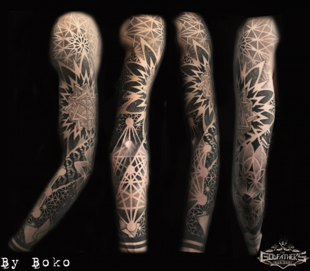 Geometric Sleeve - Godfather's Tattoo - By BOKO